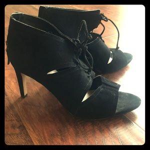 Franco Sarto black lace up heels